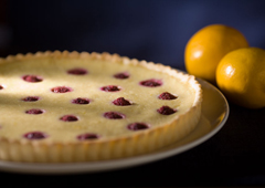 Lemon Raspberry Custard Tart