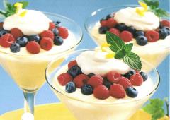 Berry Easy Lemon Mousse