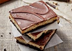 Chocolate Mint Cheesecake Bars