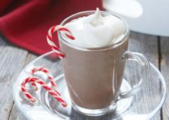 Chocolat chaud à la menthe poivrée