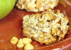 Biscuits croustillants aux pommes et au caramel écossais