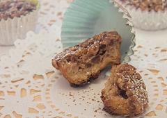 Mini macarons de chocolat et d'avoine