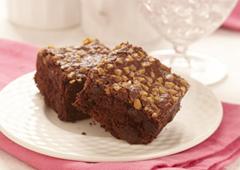 Carrés au chocolat débordants de caramel