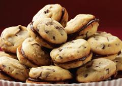 Triple Chocolate Chip Sandwich Cookies