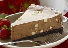 Gâteau au fromage au double chocolat