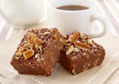 Brownies chocolat et pacanes sans cuisson
