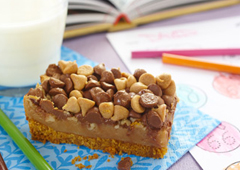 Peanut Butter, Chocolate and Walnut Magic Bars