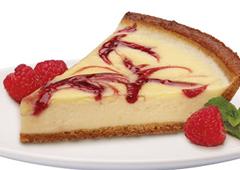 Classic Raspberry Swirl Cheesecake