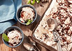 Crème glacée fondant au chocolat et menthe