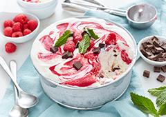 Raspberry Swirl Dark Chocolate Ice Cream