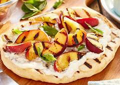 Grilled Peach and Ricotta Flatbread