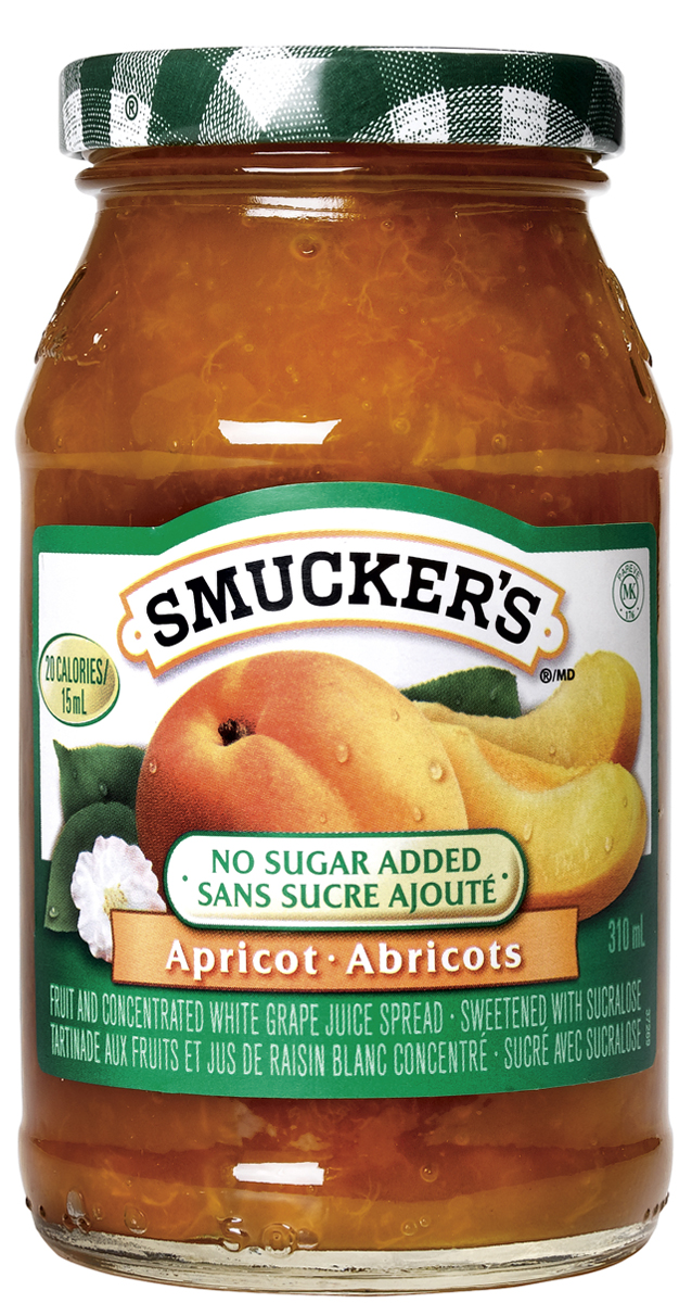 Smucker s® No Sugar Added Apricot Fruit and Concentrated White Grape Juice Spread