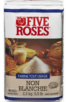 Farine tout usage jamais blanchie Five Roses®