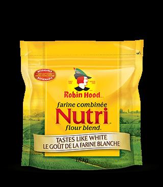 Farine combinée<strong> Nutri<sup>MC </sup>Robin Hood<sup>®</sup> </strong>Le goût de la farine blanche