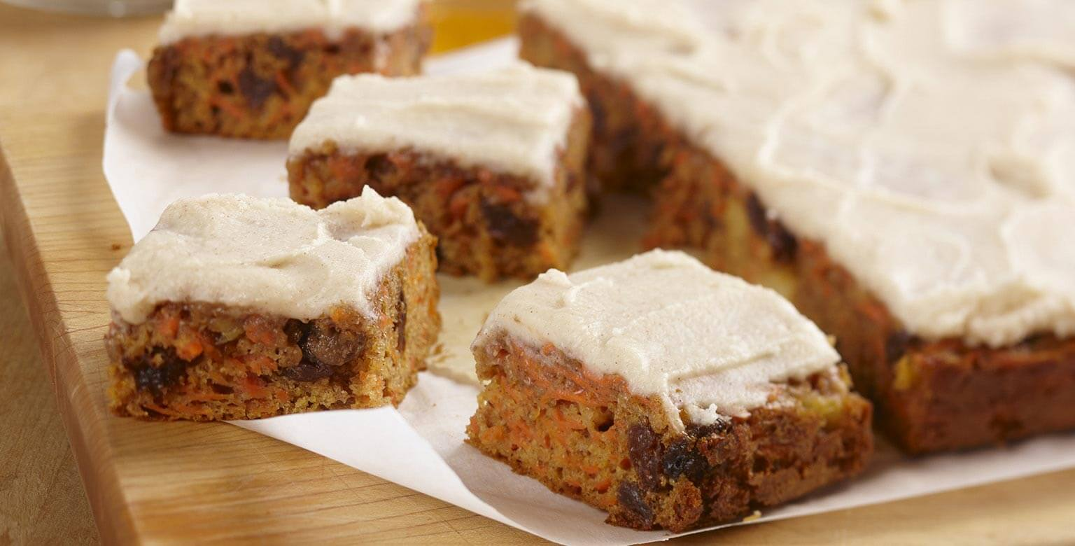 Honey Carrot Cake Squares