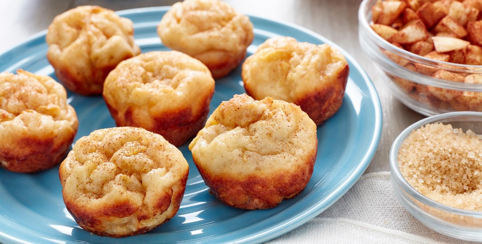 Mini Apple Cinnamon French Toast Bites — Two-Ingredient Dough