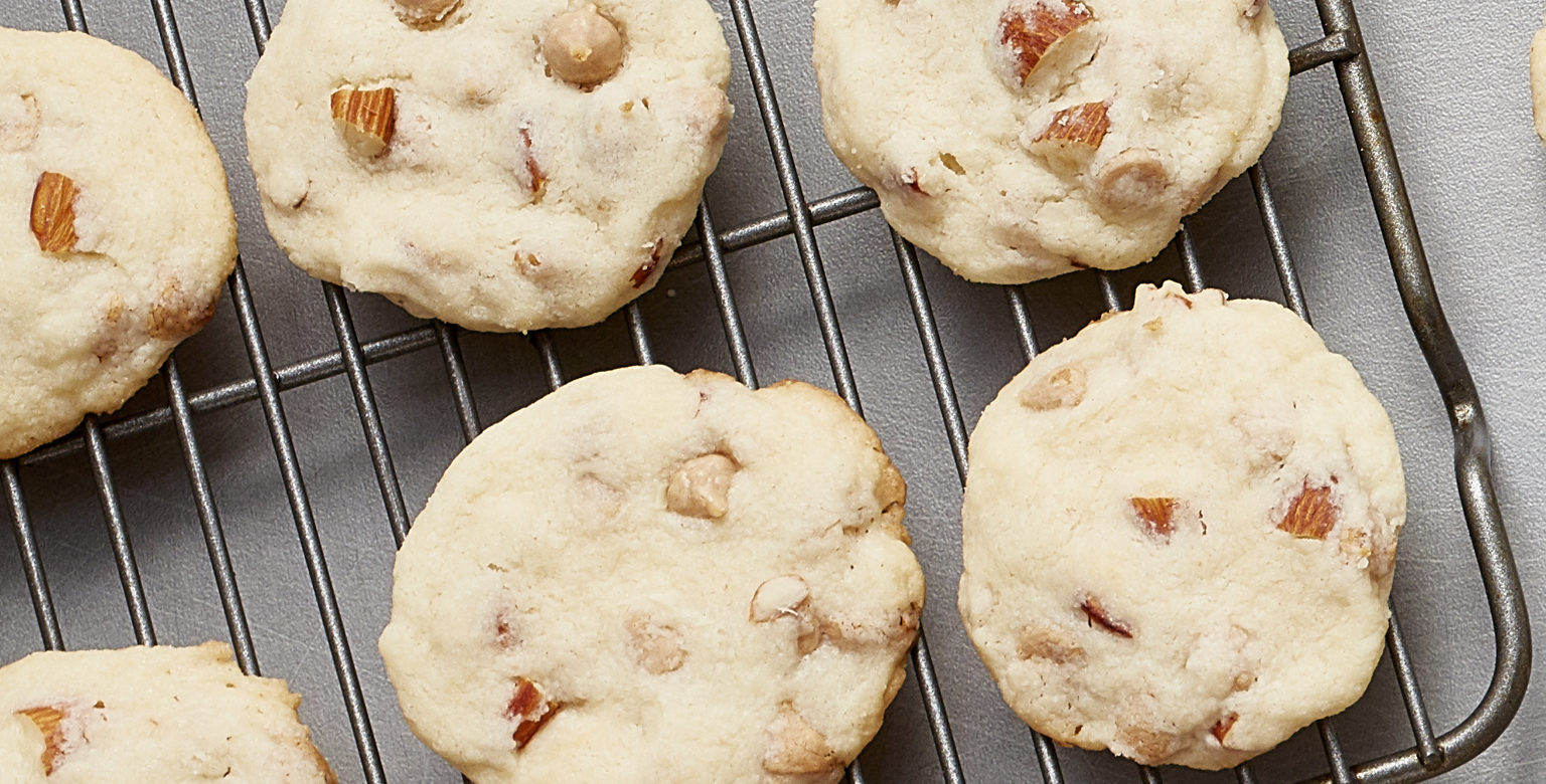 Sea Salt Caramel and Smoked Almond Cookies
