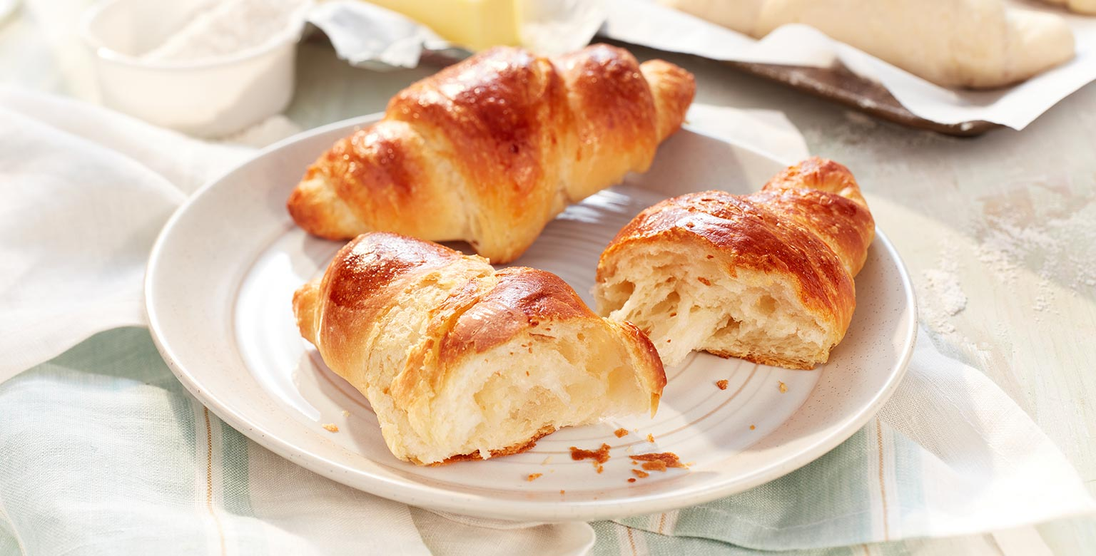 Easier croissants made with Organic flour