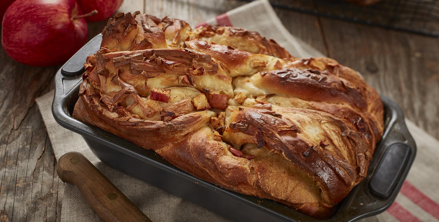 Voir la recette - Babka aux pommes et gouda fumé
