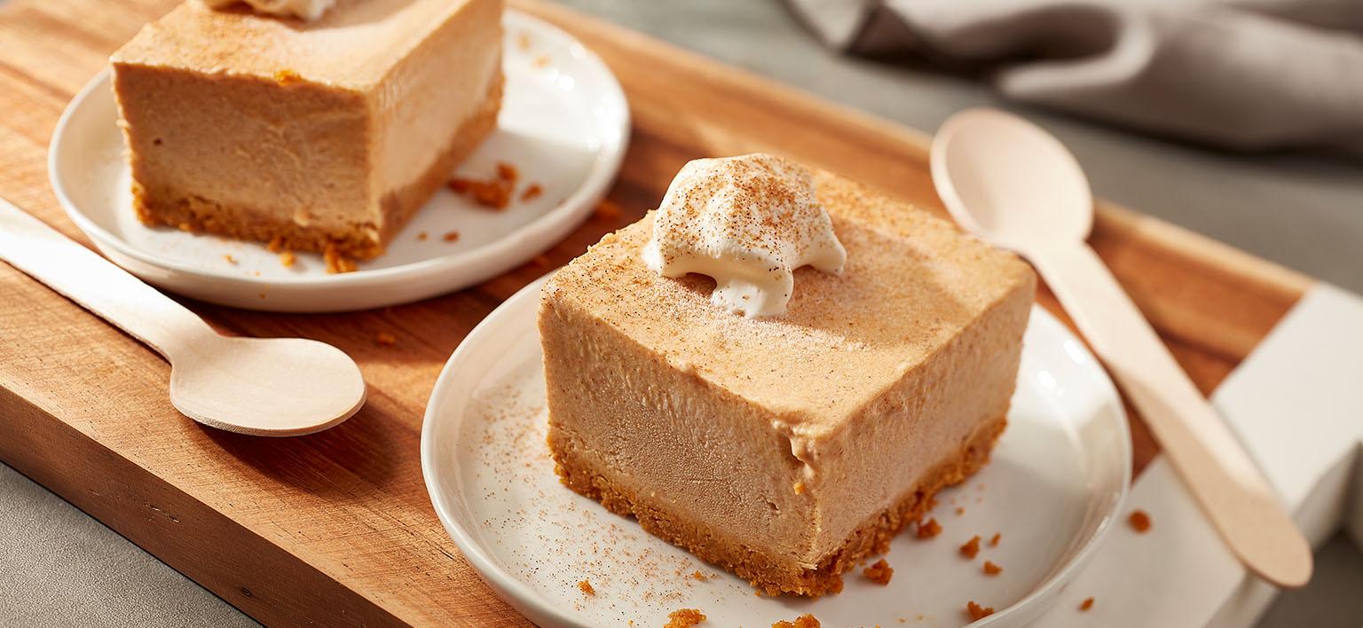 Voir la recette - Barres facile à la crème glacée à la citrouille