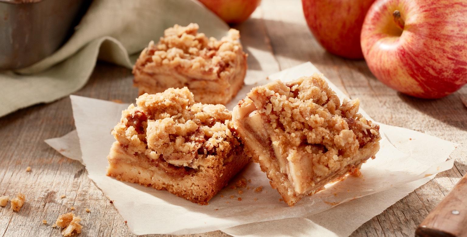 Voir la recette - Barres sablées aux pommes