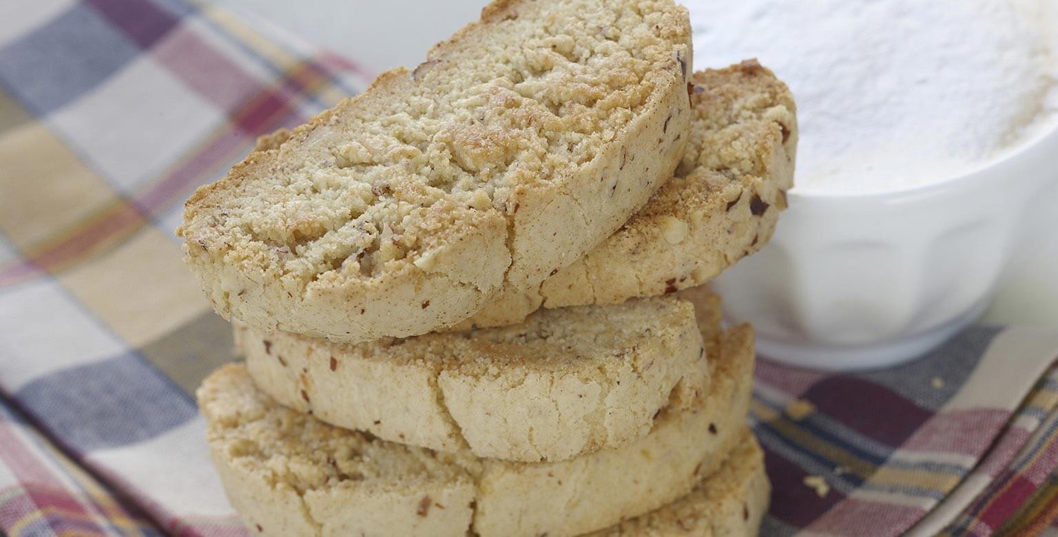 Voir la recette - Biscottis aux noisettes