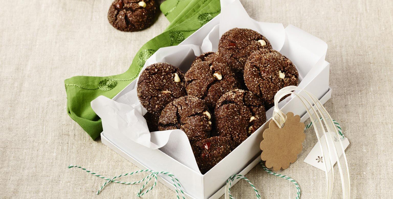 Voir la recette - Biscuits au chocolat et à la menthe