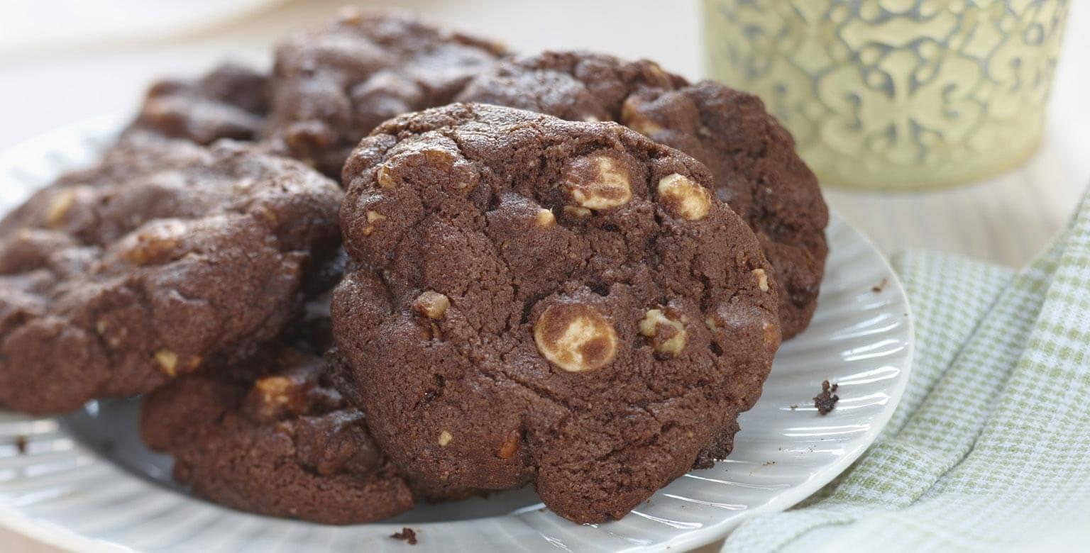Voir la recette - Biscuits au chocolat et aux pépites de chocolat
