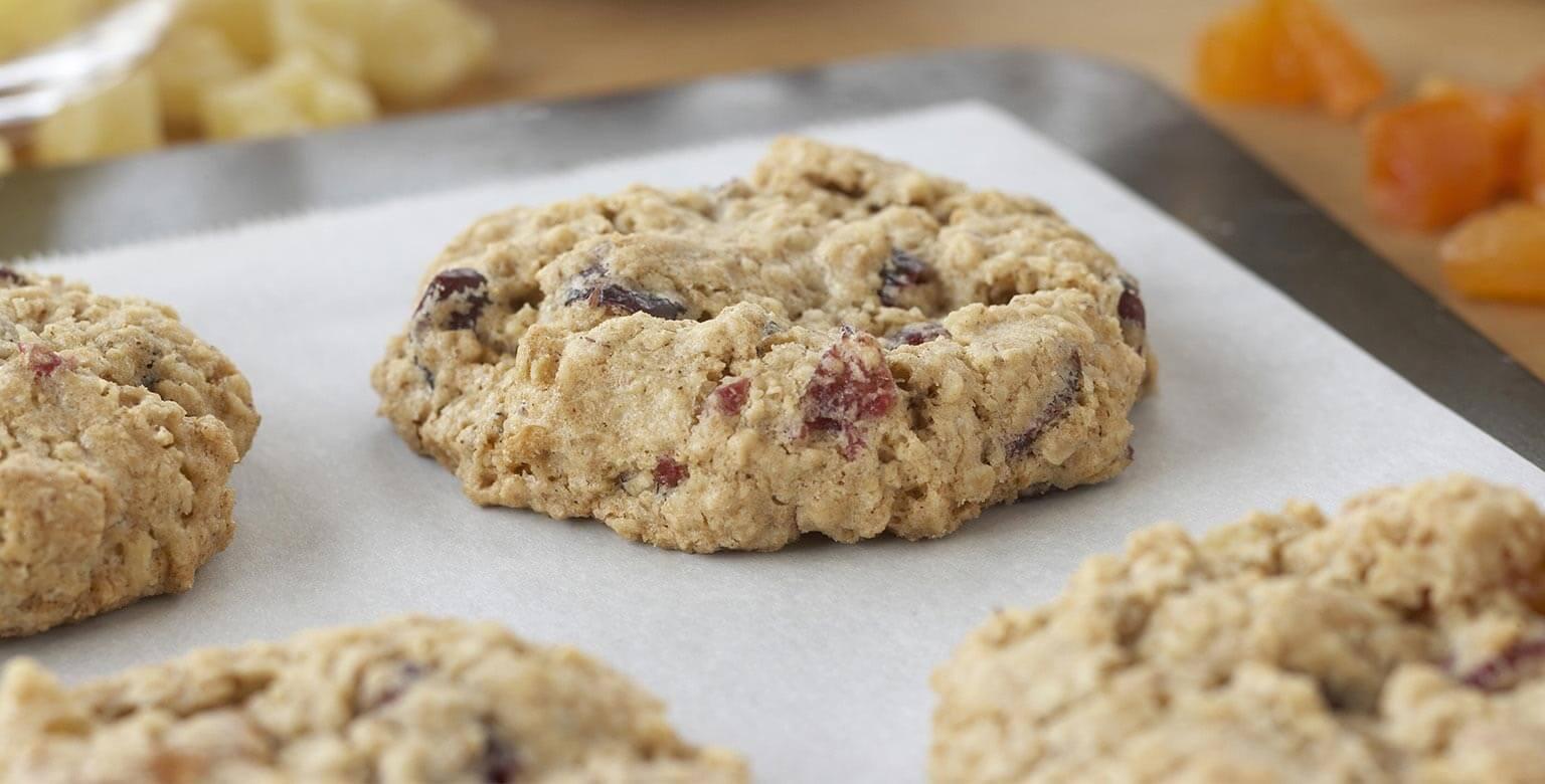 Voir la recette - Biscuits au gruau et aux fruits secs