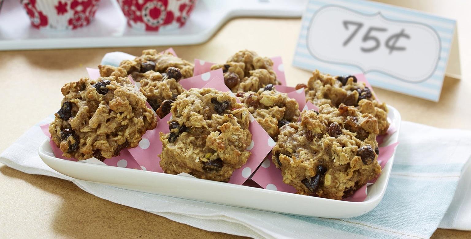 Voir la recette - Biscuits aux flocons d'avoine et à la compote de pommes