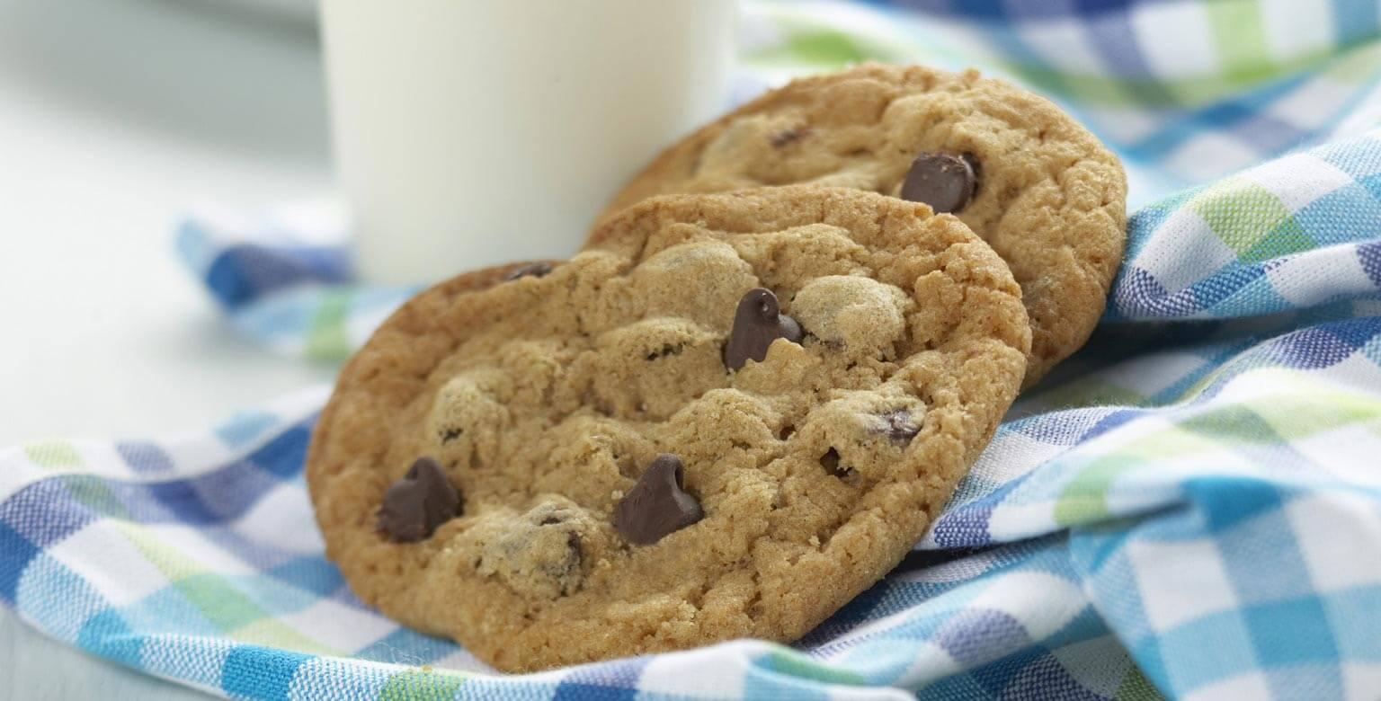 Voir la recette - Biscuits aux pépites de chocolat, version classique