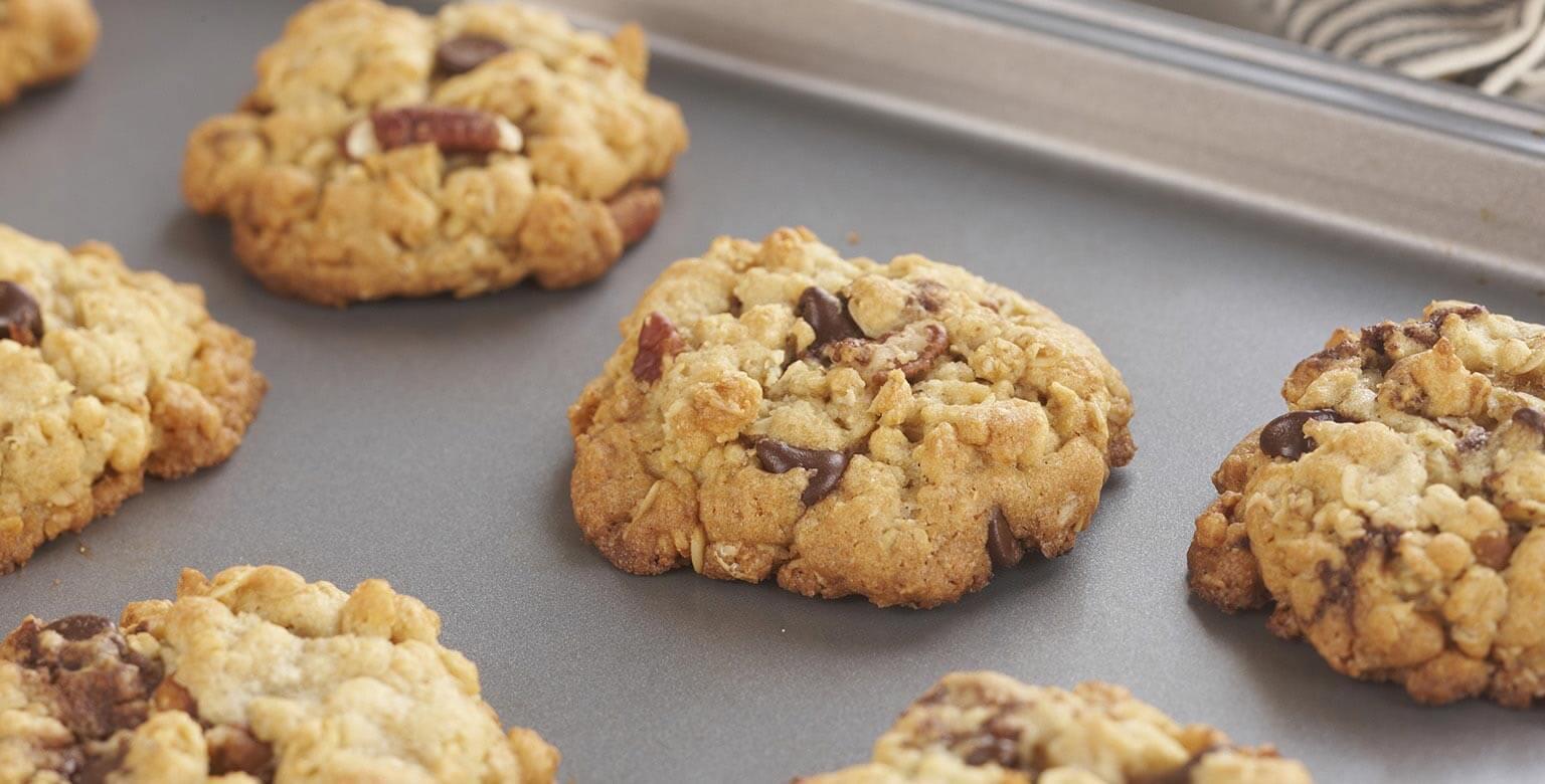 Voir la recette - Biscuits croquants à l'avoine