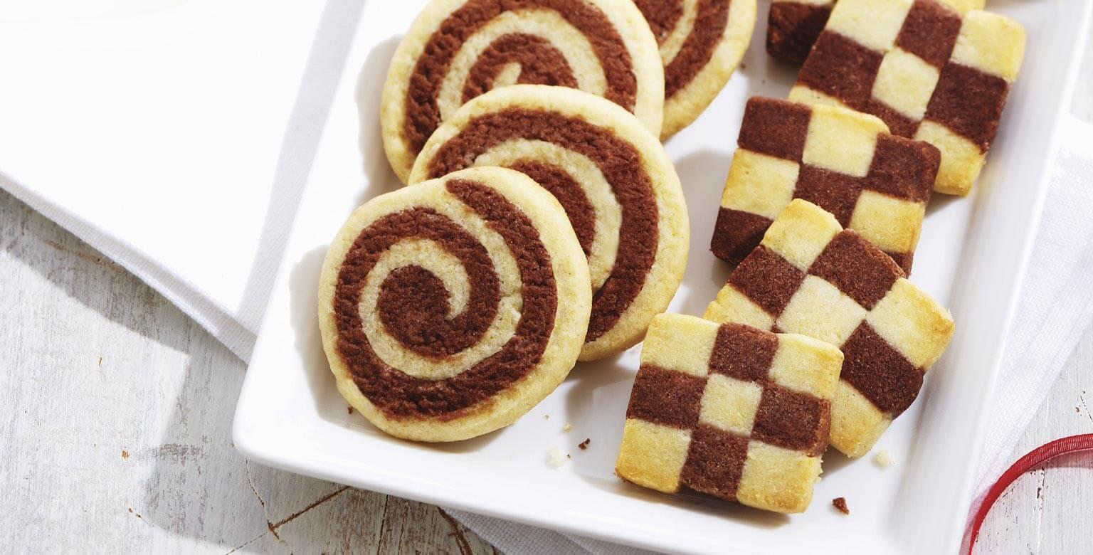 Voir la recette - Biscuits de l'échiquier