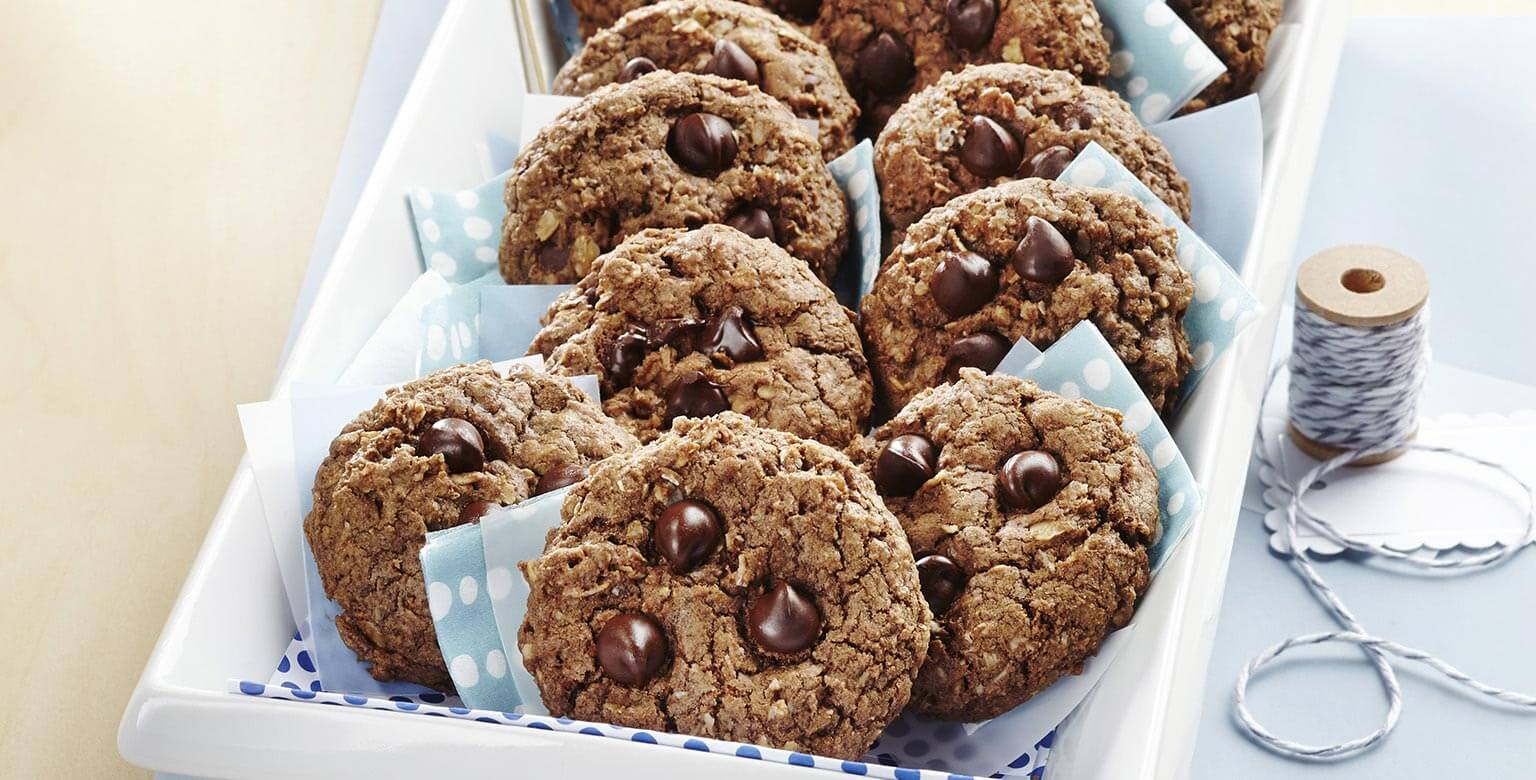 Voir la recette - Biscuits double chocolat à l'avoine