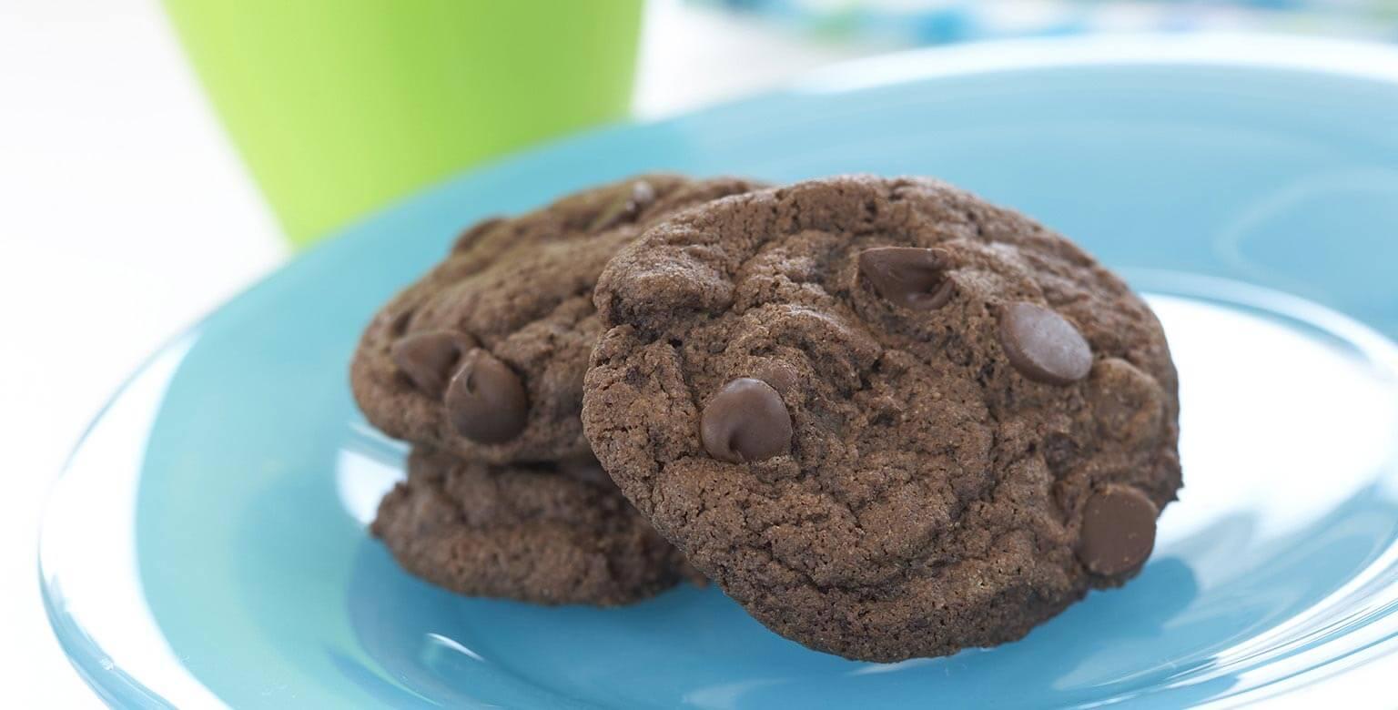 Voir la recette - Biscuits double-chocolat et menthe