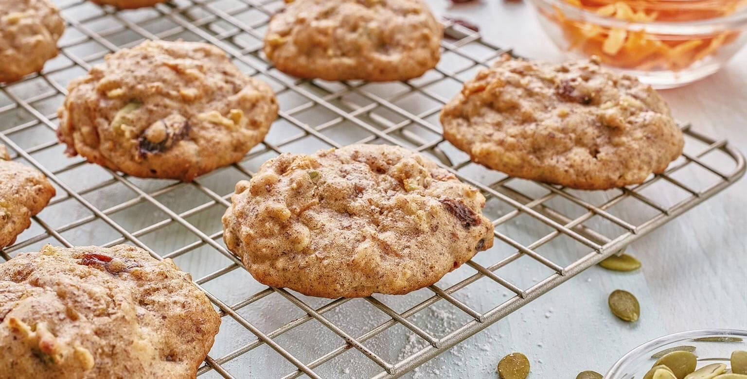 Voir la recette - Biscuits du matin aux carottes et aux pommes