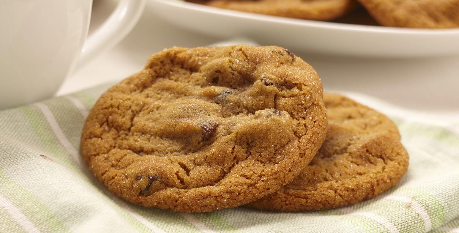 Voir la recette - Biscuits épicés aux raisins secs