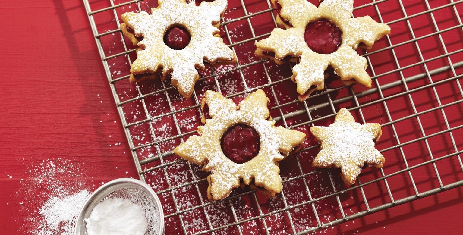 Voir la recette - Biscuits linzer, version classique