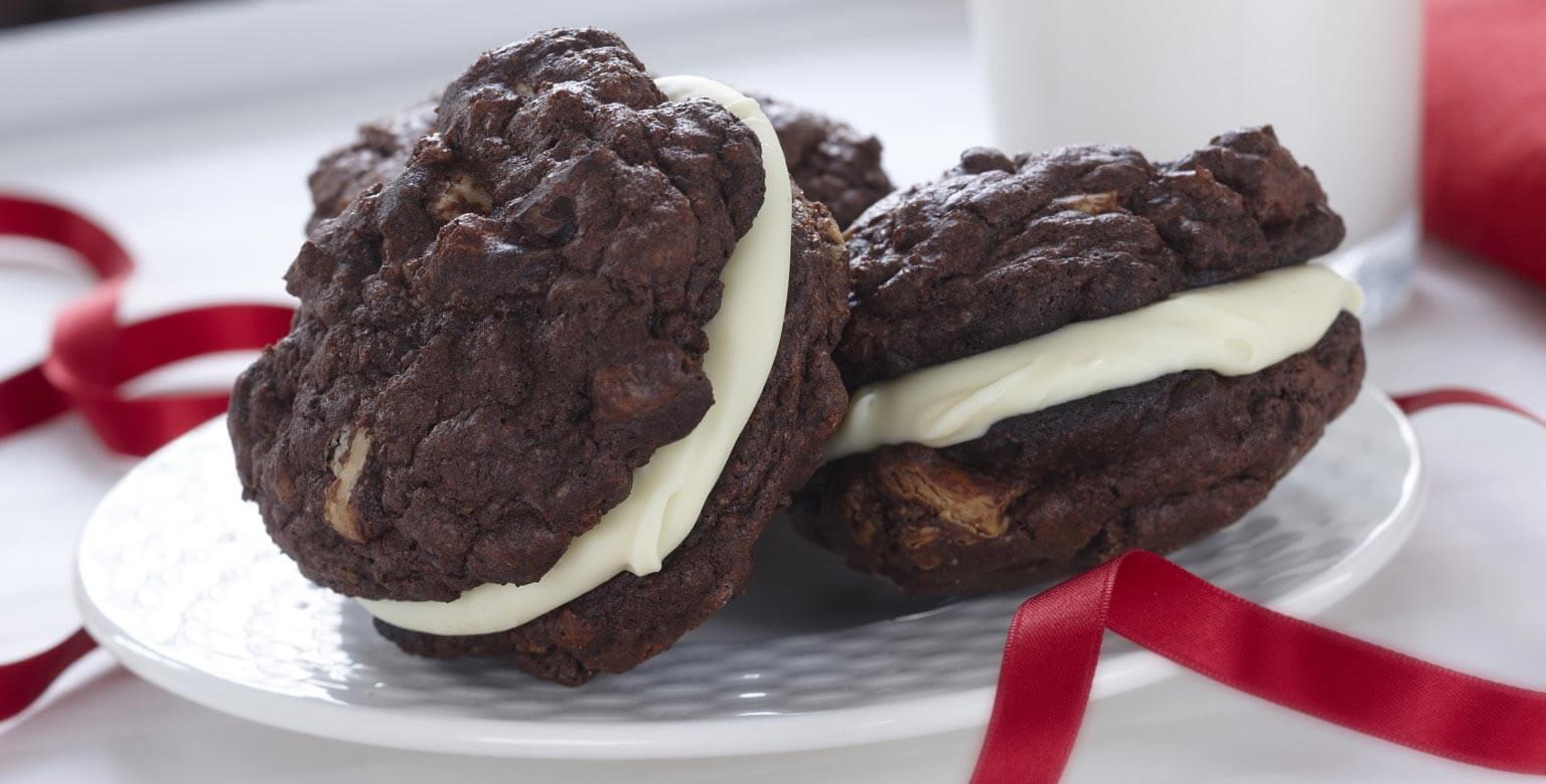 Voir la recette - Biscuits sandwichs au chocolat