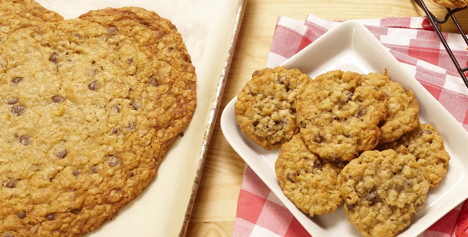 Voir la recette - Biscuits-télégrammes au gruau et aux grains de chocolat