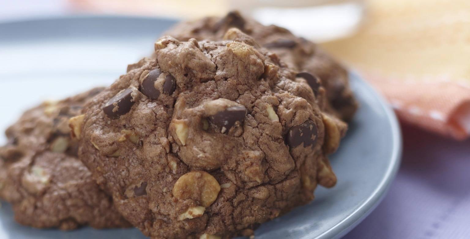 Voir la recette - Biscuits tendres au chocolat et aux arachides