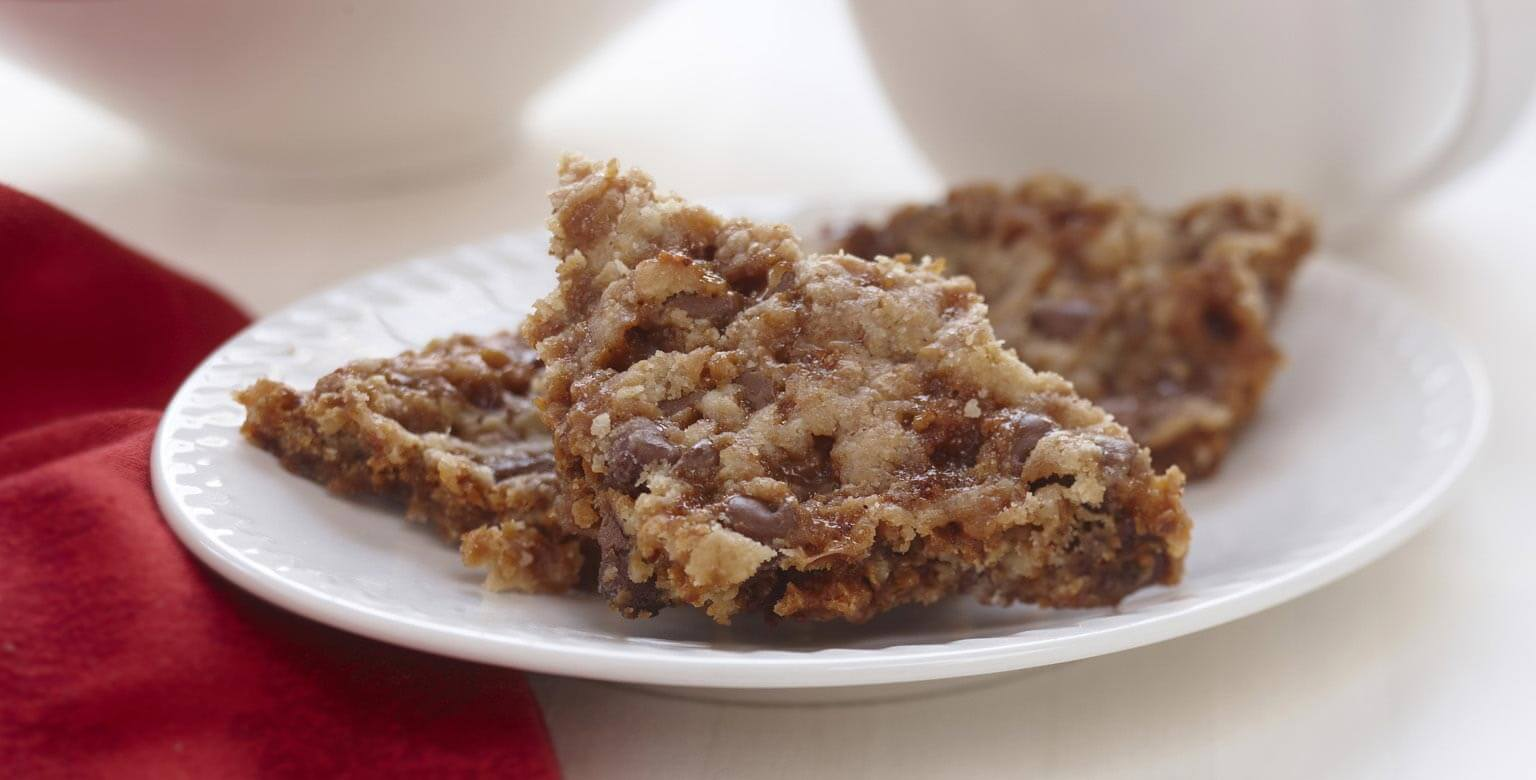 Voir la recette - Bouchées craquantes au caramel et au chocolat