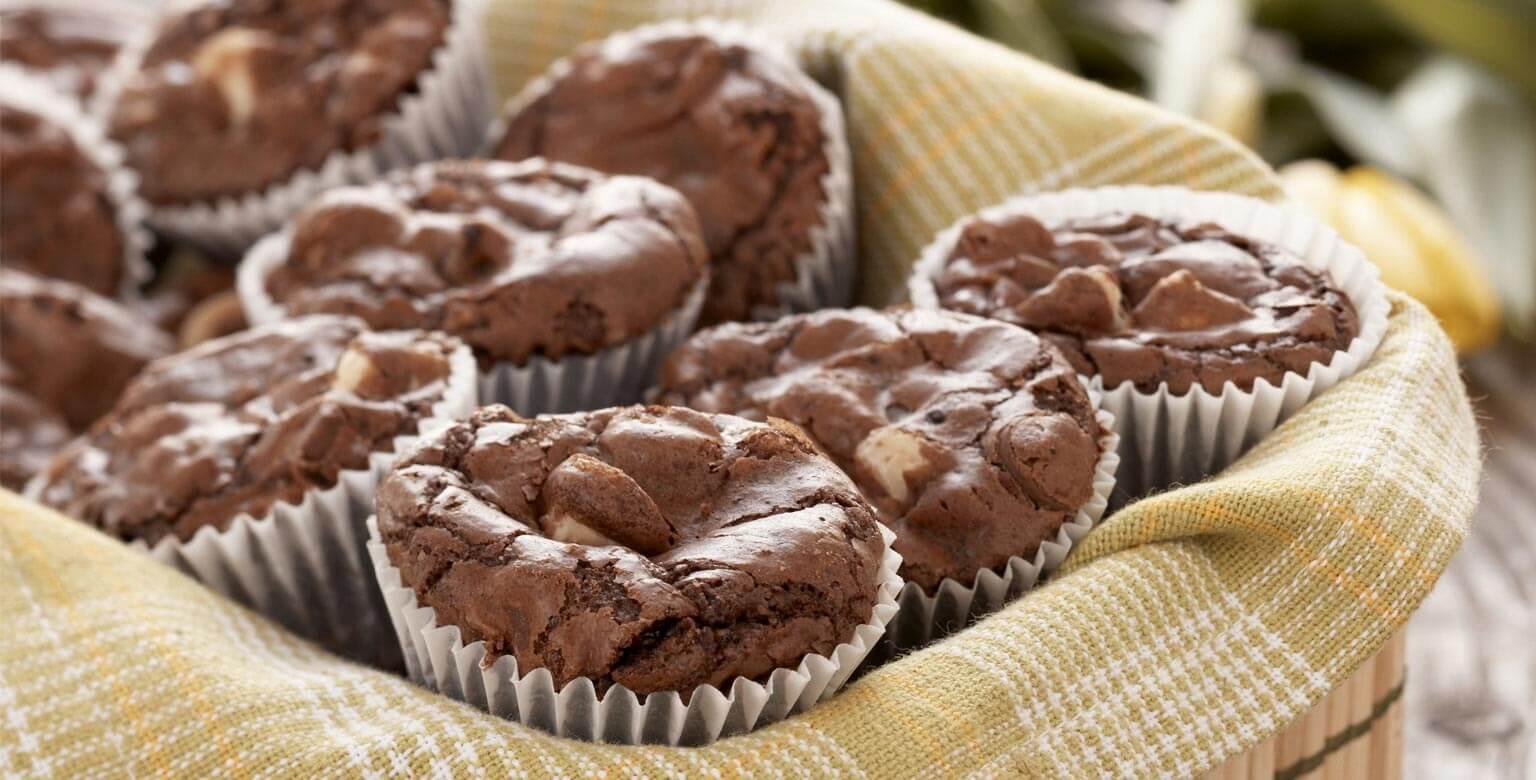 Voir la recette - Bouchées de moelleux au chocolat