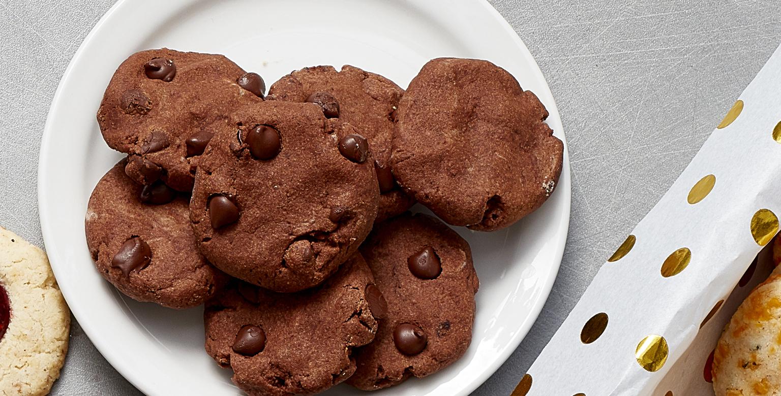 Voir la recette - Boutons de biscuit double chocolat et menthe