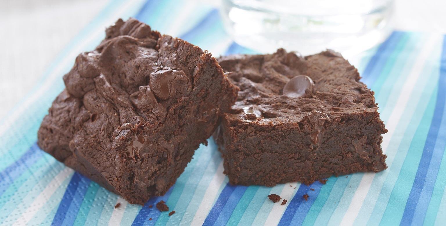 Voir la recette - Brownies chocolatés moelleux sans gluten*