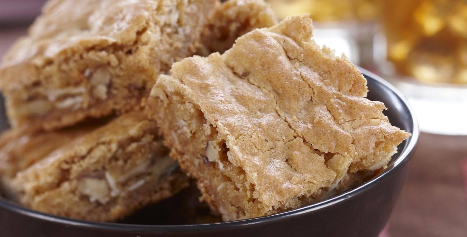 Voir la recette - Carrés au caramel moelleux