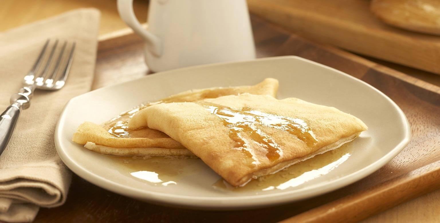 Voir la recette - Crêpes au beurre d'érable