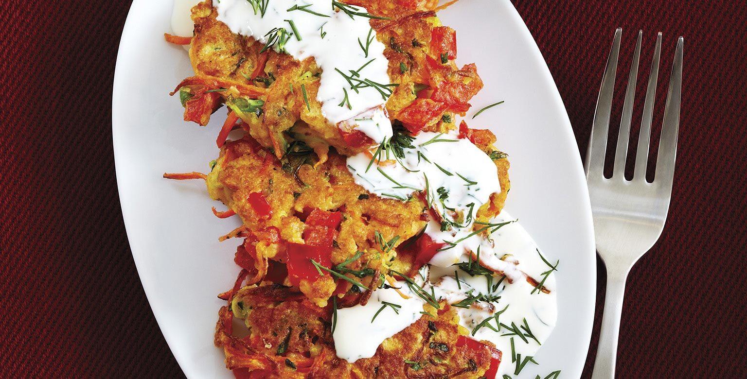 Voir la recette - Crêpes salées aux légumes