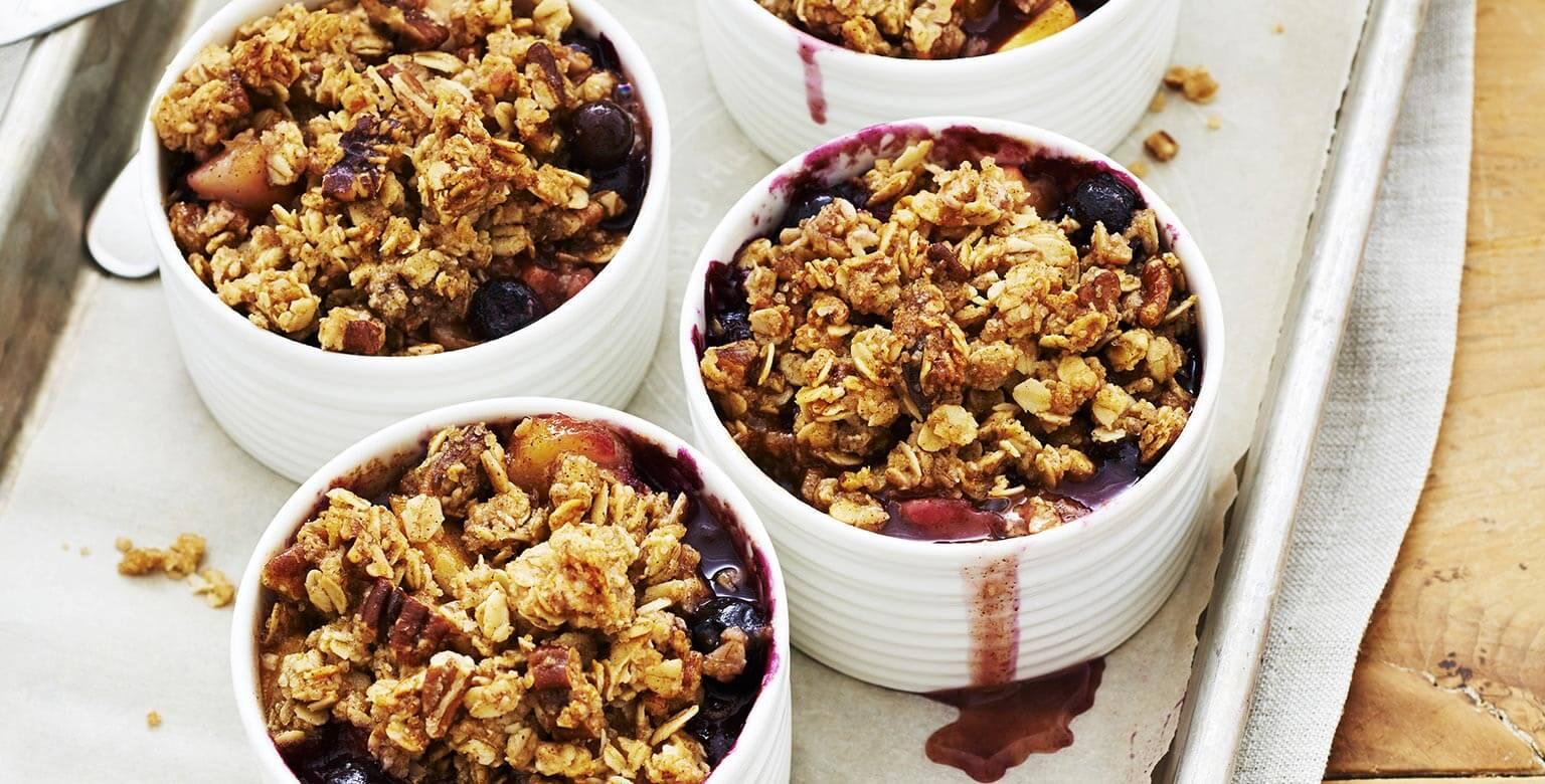 Voir la recette - Croustillant aux fruits du verger et petits fruits