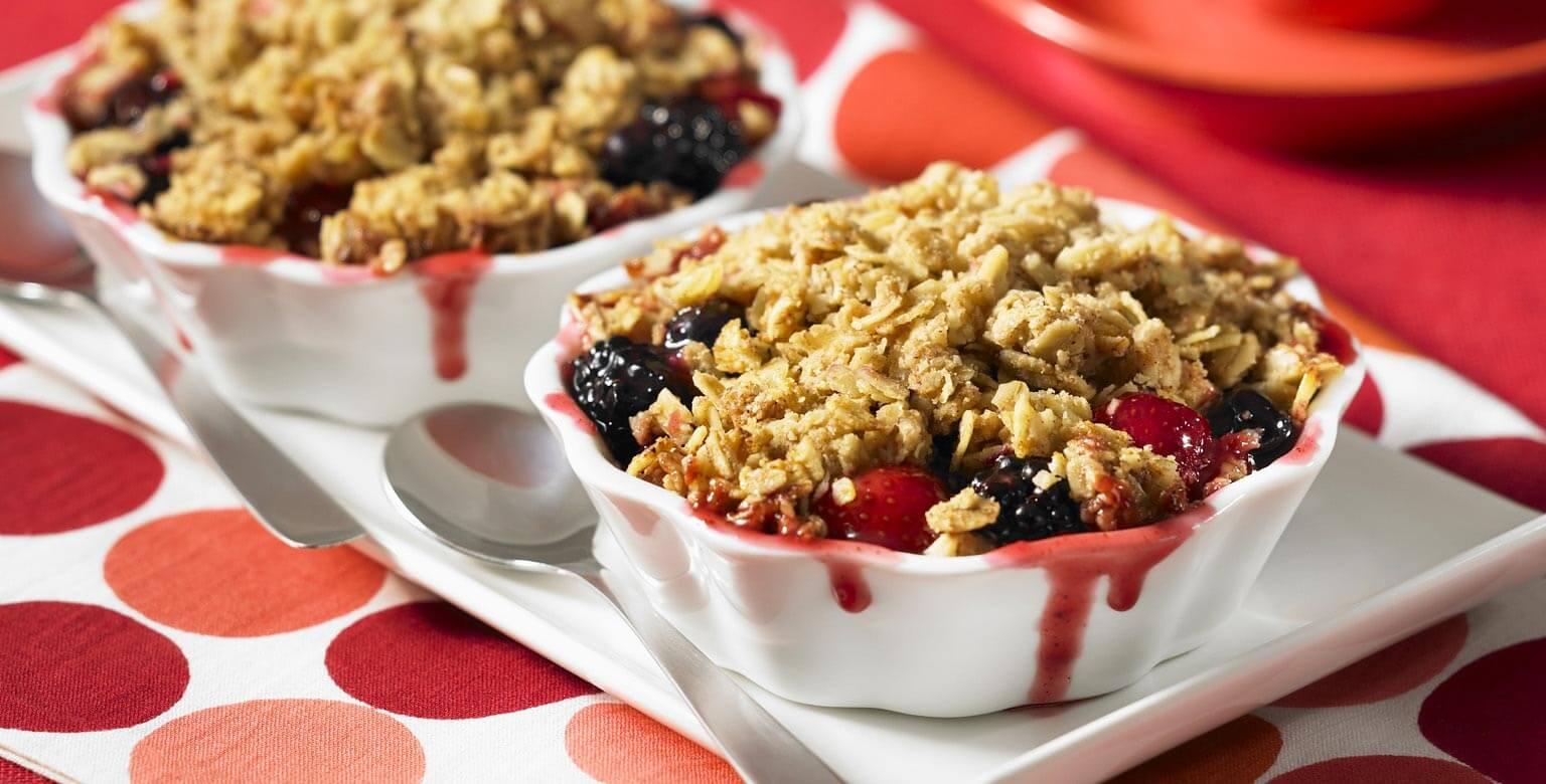 Voir la recette - Croustillant aux pommes et aux petits fruits